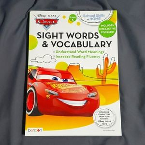 Disney Cars Kindergarten sight word work